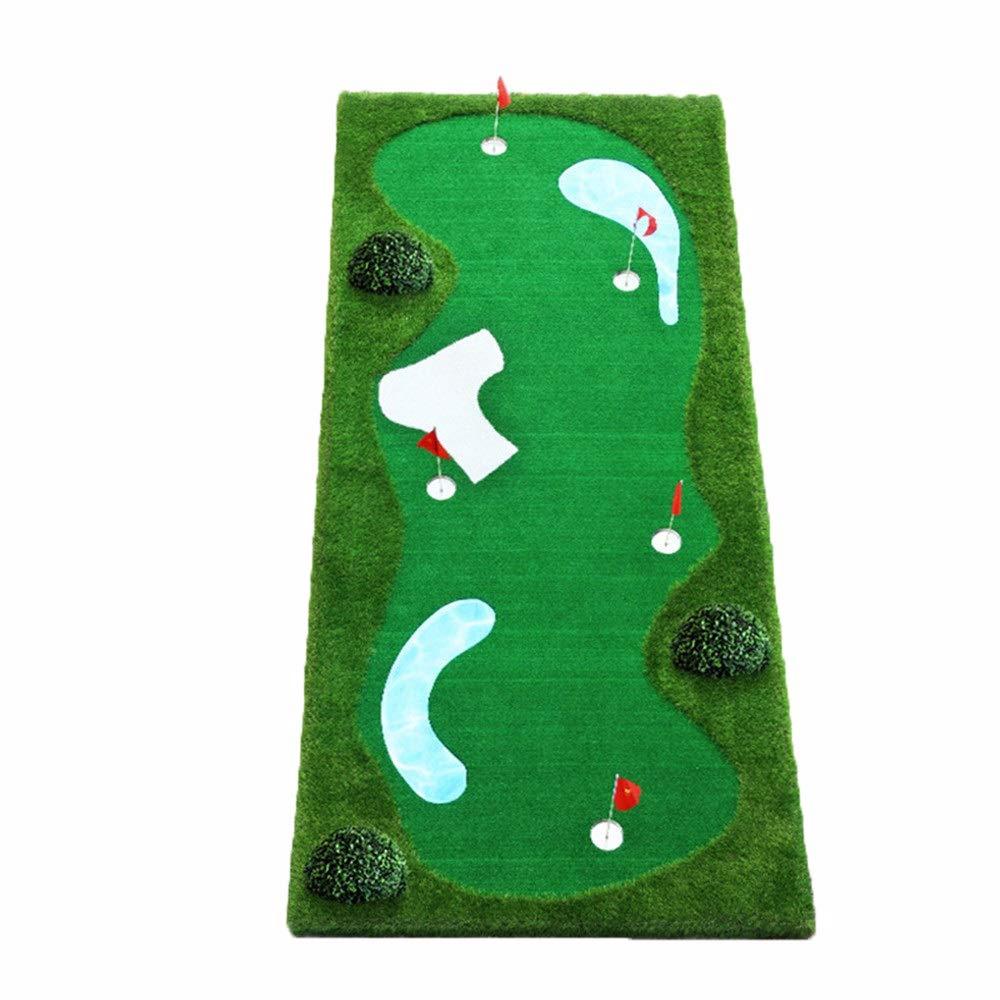 ゴルフの打撃のマットの攻撃 ゴルフパッティング増粘滑り止めゴルフ人工グリーンシステムミニボール練習 (色 : A, サイズ : 1.5*3m) A 1.5*3m