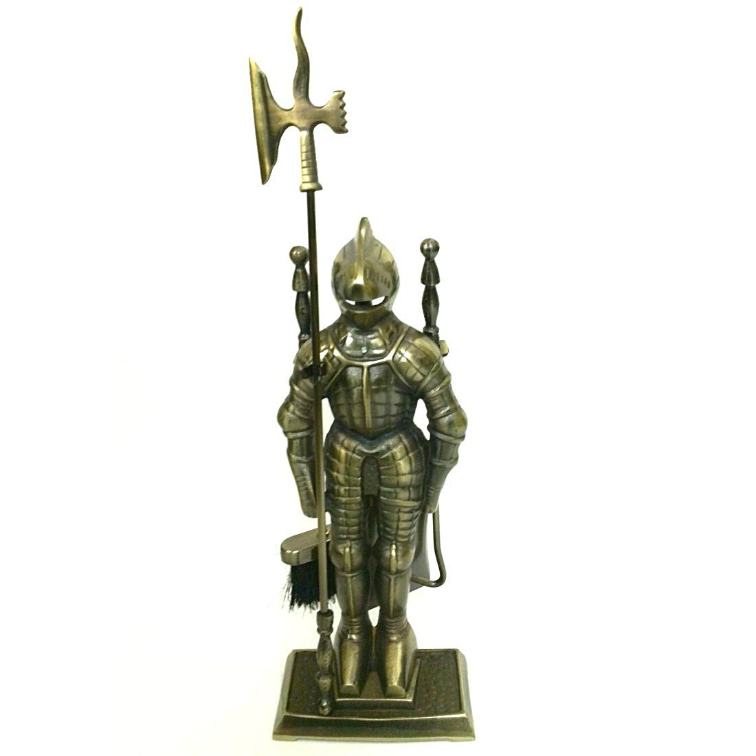 amazon com lizh middle ages knight cast iron fireplace tool set