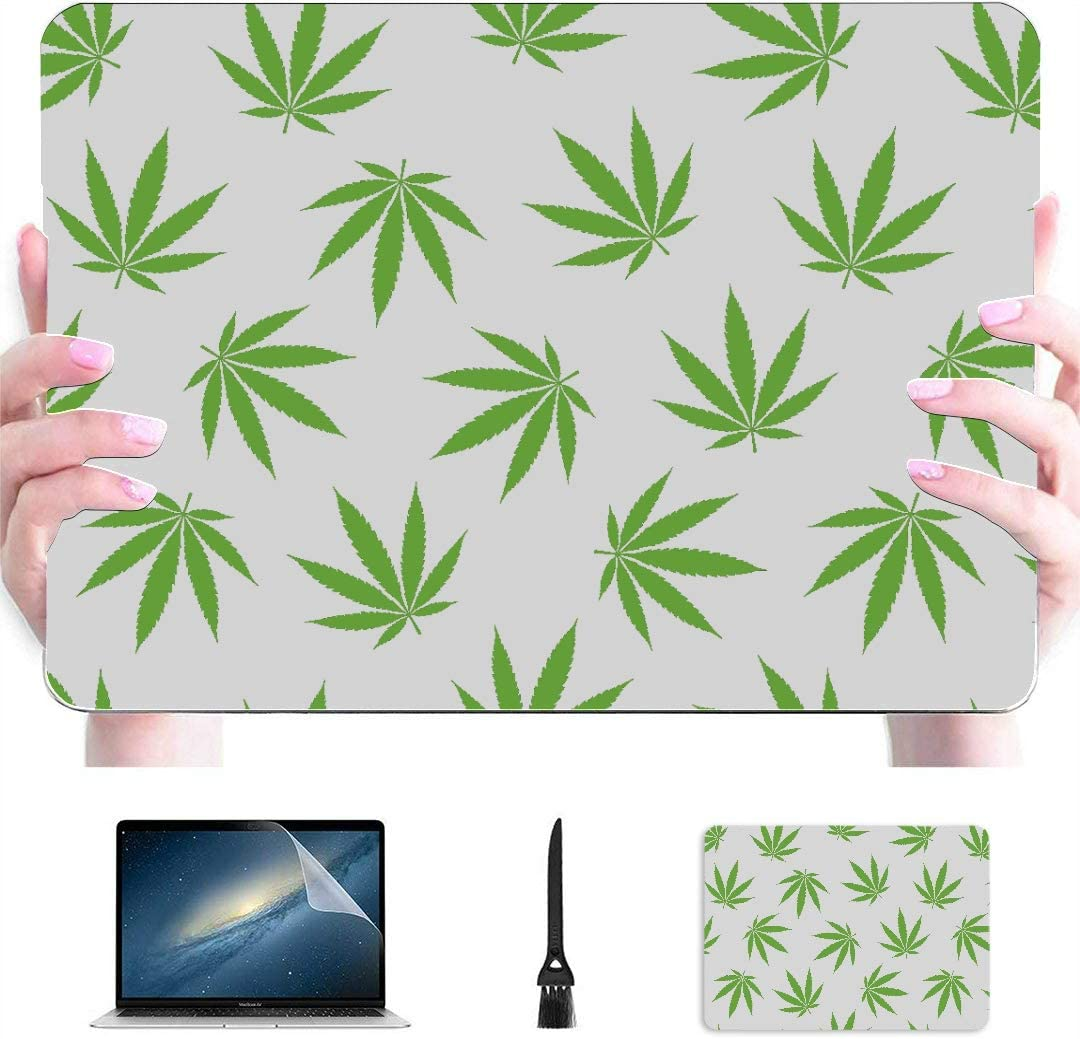 MacBook Pro 13 Cases Marijuana Leaf of Cannabis Colorful Laptop Case Mac Hard Shell Mac Air 11//13 Pro 13//15//16 with Notebook Sleeve Bag for MacBook 2008-2020 Version