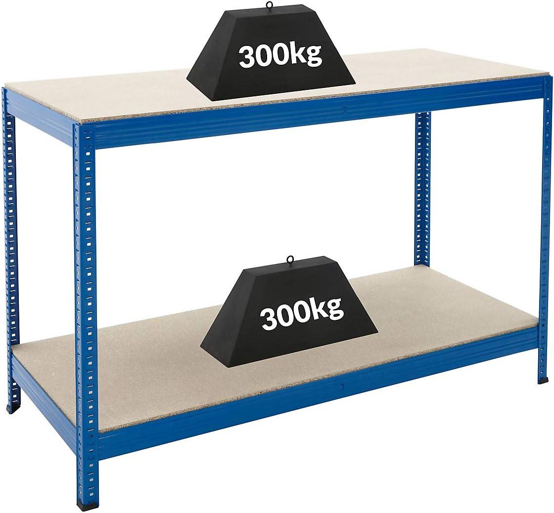 Tiefe 60 cm Metallregal Kellerregal Lagerregal Werkstattregal Garagenregal Steckregal 1x Werkbank und 4x Schwerlastregal Certeo Mega Deal