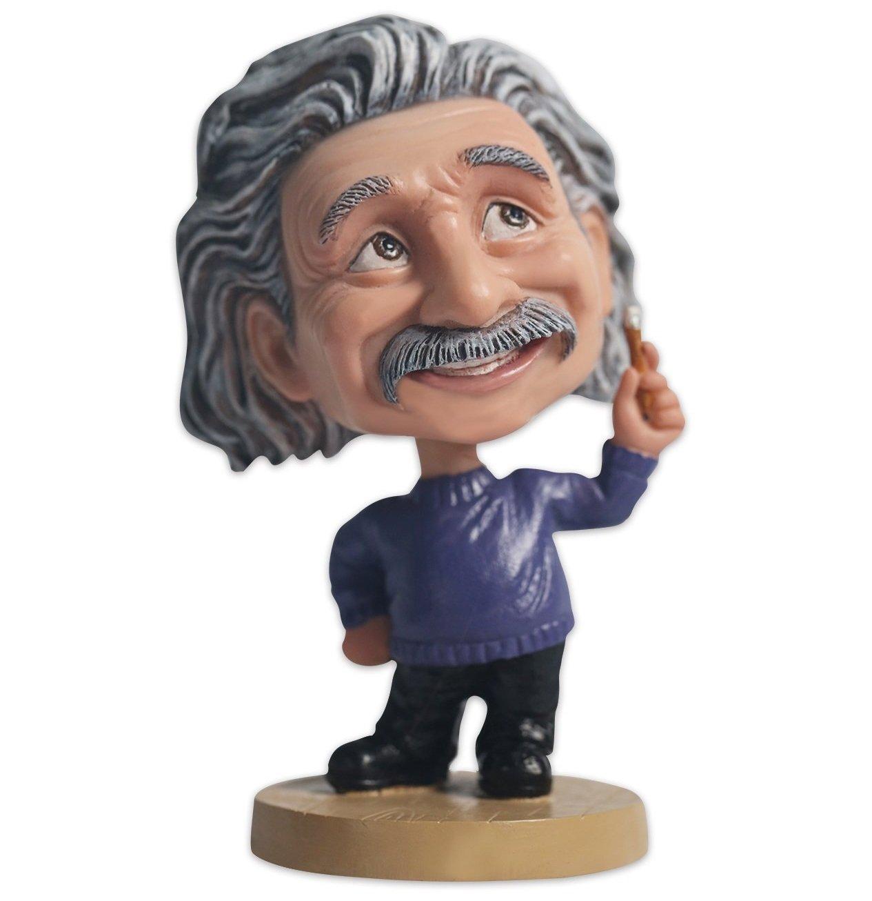 Albert Einstein Bobblehead Action Figure for Car Dashboard Einstein Statue Home Desk Decoration (Blue) OZUKO est002