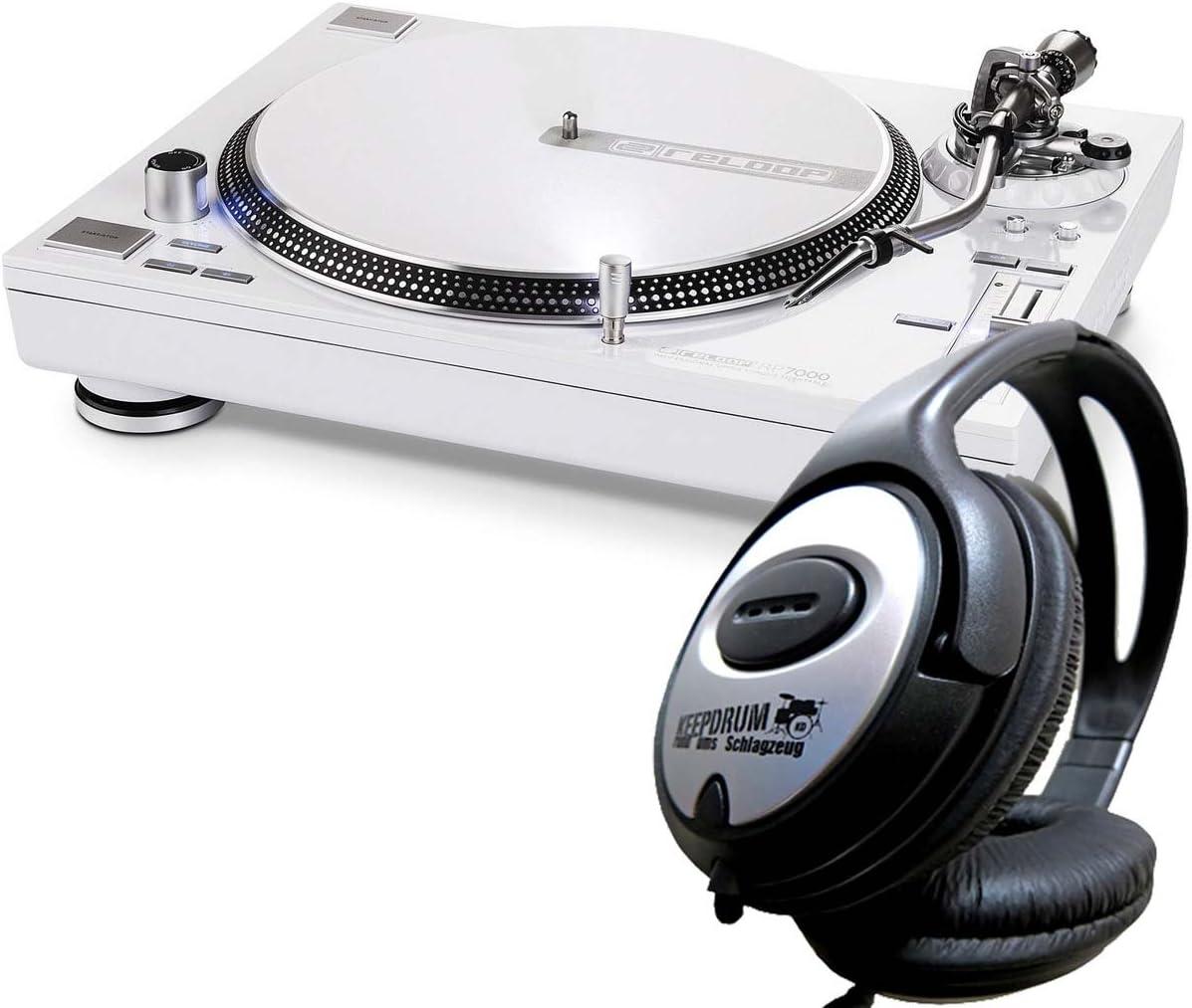 Reloop RP-7000 Tocadiscos WH White DJ-Tocadiscos con Upper Torque ...