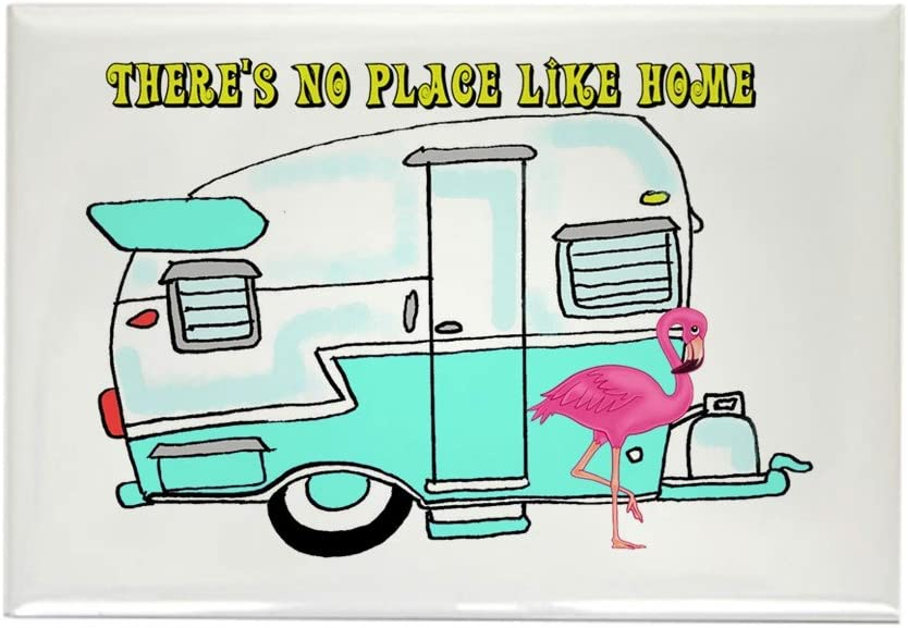 """CafePress There's No Place Like Home Magnets Rectangle Magnet, 2""""x3"""" Refrigerator Magnet"""