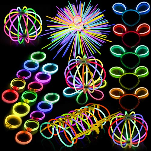 FUN LITTLE TOYS Glow Sticks Bulk 200 8