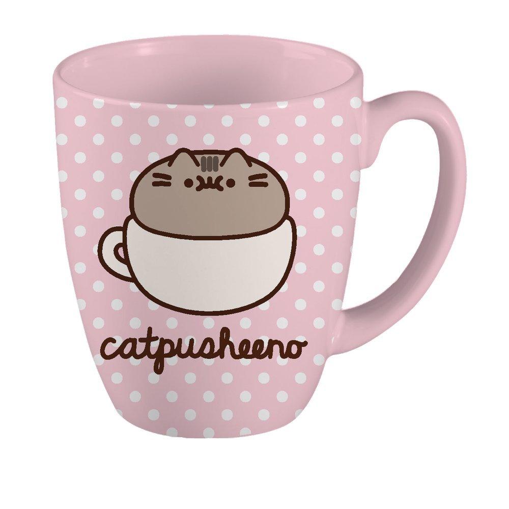 Pusheen 18 oz Mug - Polka Dot Catpusheeno Mug (Blue)