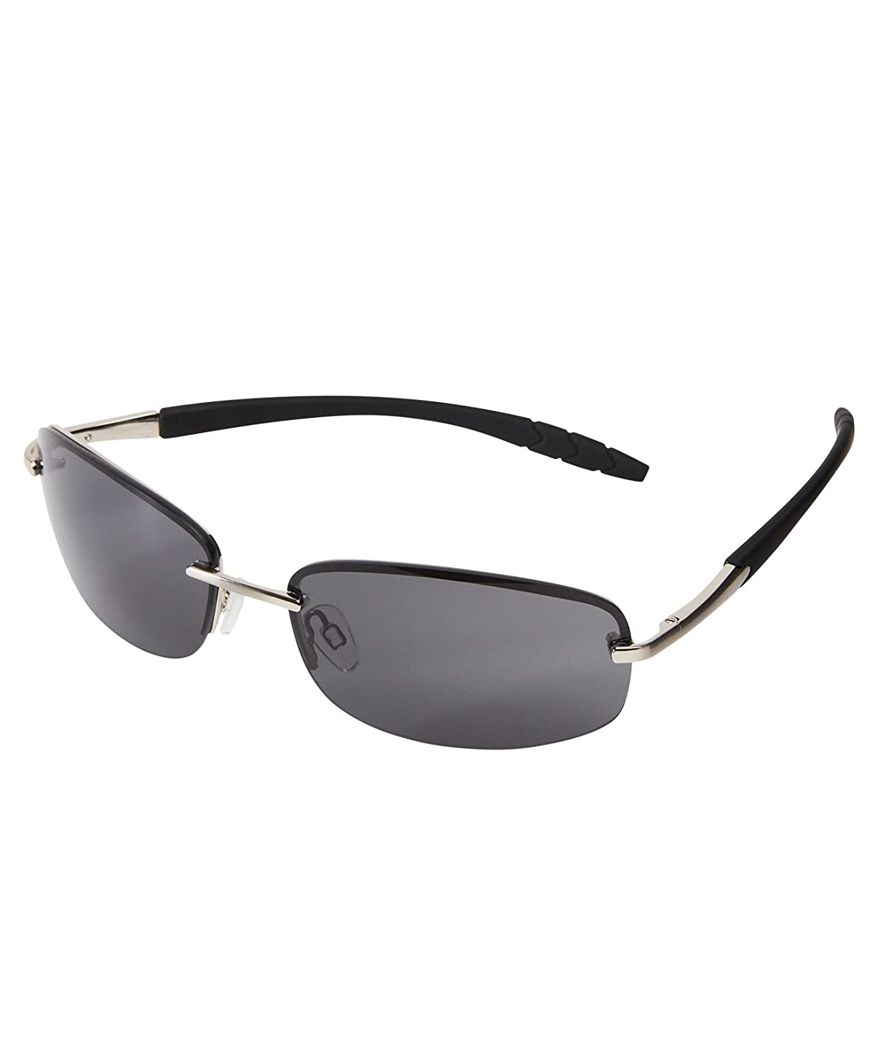Joe Browns Rimless Wrap Style Sunglasses with UV Protection Black