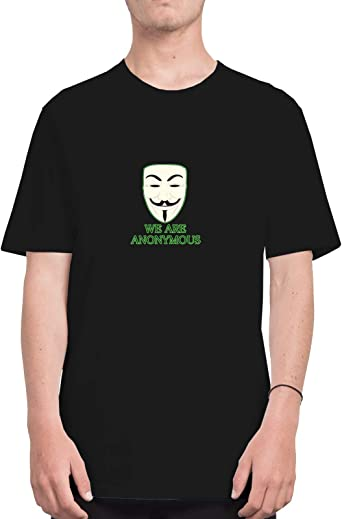 We Are Anonymous Mask Rebel Slogan_CFS2213 Tshirt T-Shirt Shirt Men Camiseta para Hombres Mens, Shirts For Mens, Sports, Casual Grey S: Amazon.es: Ropa y accesorios