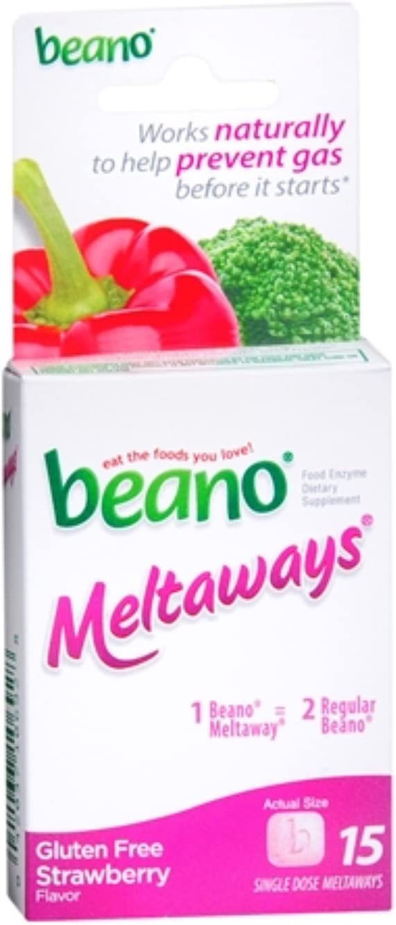 Beano Meltaways Strawberry 15 ea (Pack of 8)