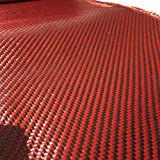 "4"" x 5 FT Red - Kevlar FABRIC-2x2 Twill WEAVE-3K/220g"