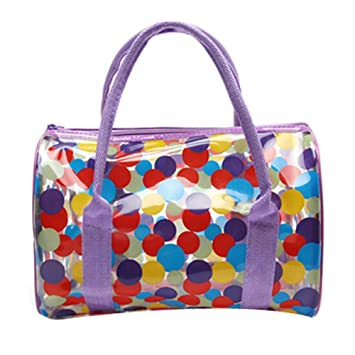 a21840245df3 Colorful Transparent Waterproof Beach Tote Storage Bag(Multicolor)  Amazon. co.uk  Sports   Outdoors