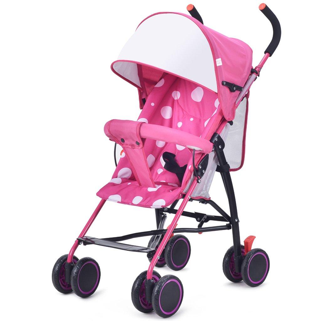 赤ちゃんのおもちゃ超軽量ポータブルミニ傘子供のベビーカー(青)(ピンク)75 * 95cm ( Color : Pink ) B07BTV8SDX