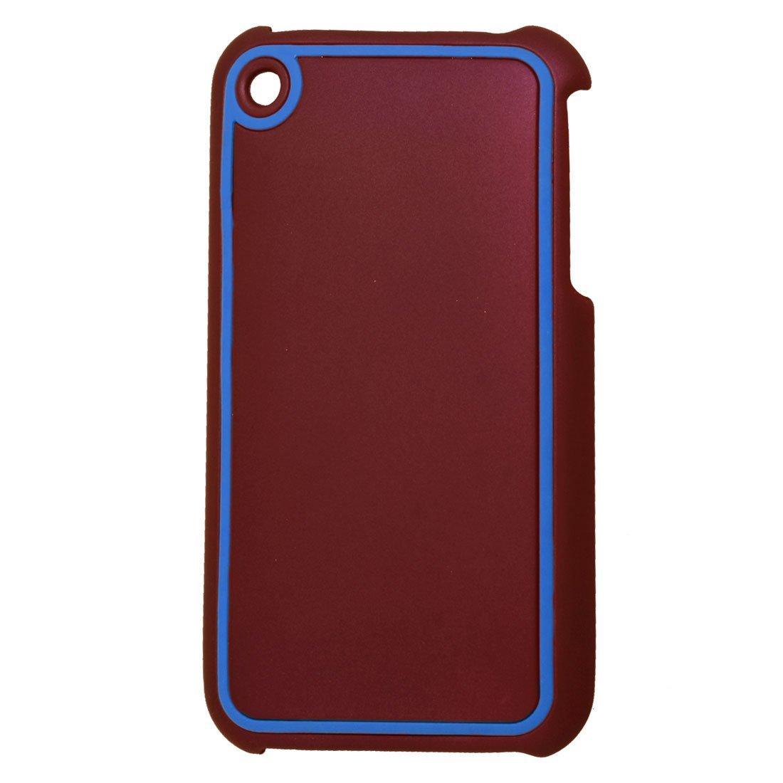 Maroon bleu dur de protection en plastique Shell pour iPhone 3G 3GS