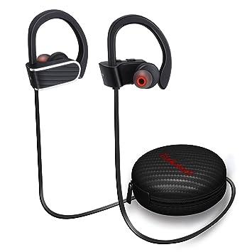 Auriculares Inalambricos Bluetooth Deportivos 4.1 Toocoo con Micrófono y Cancelación de Ruido y Impermeables IPX7 para