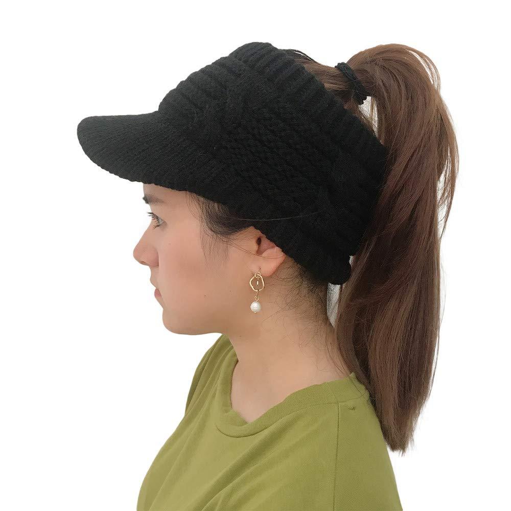 XOWRTE Women Winter Cotton Twist Peaked Knit Wool Hollow Out Multicolor Point Cap Hat