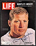 Signed Mickey Mantle with No7 Inscription Life Magazine Beckett BAS - Authentic MLB Autograph
