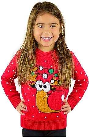 Cute Reindeer Boy//Girl Christmas Toddler//Kids Sweatshirts TeeStars