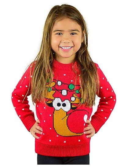 Amazoncom Tstars Ugly Christmas Sweater Cute Funny Reindeer For