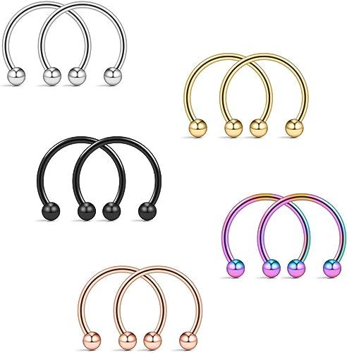 Amazon Com Ruifan 10pcs Assorted Colors Surgical Steel Cbr Non