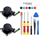 2-Pack 3D Joycon Joystick Replacement,ABLEWE Analog Thumb Stick Joy Con Repair Kit for Nintendo Switch, Include Tri-Wing, Cro