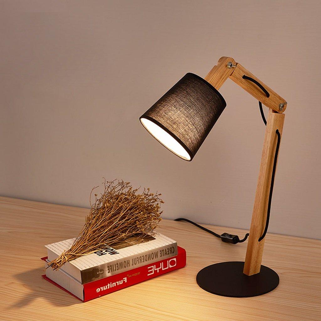 Lernen Sie, LED-Lampe, Massivholz kreative Schlafsaal Schlafsaal Schlafsaal moderne Studie multi-falten warmen weißen Nachttischlampe zu lesen (Farbe   schwarz) B07C253VG6 | Hervorragende Eigenschaften  9819c9