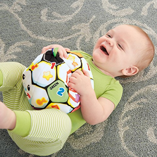 61Zg FEIPsL - Fisher-Price Laugh & Learn Singin Soccer Ball