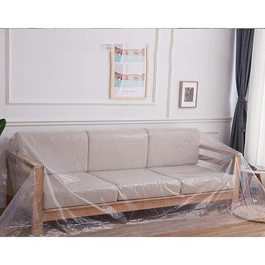 Hyy Paño de plástico Transparente para Muebles, Funda de ...