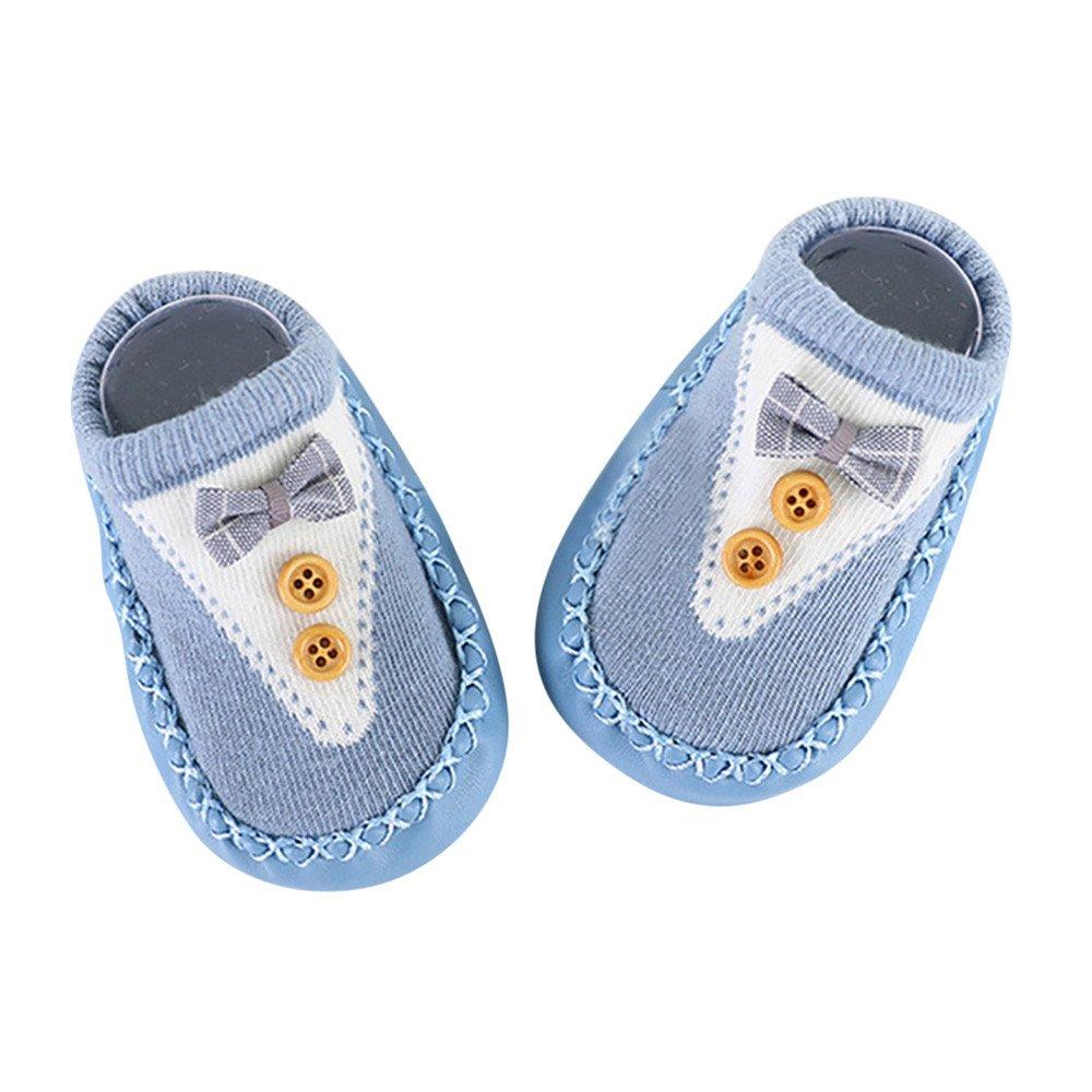 Huhu833 Baby Socken, Cartoon Neugeborenes Baby Mädchen Jungen Anti-Slip Socken Slipper Schuhe Strumpf