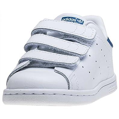 adidas Stan I Smith Cf I Stan Tout Petit Baskets Blanc Bleu K8 UK: Amazon 33b90b