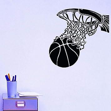 Etiqueta De La Pared 3D Diy Mural, Arte De Tiro De Baloncesto En ...