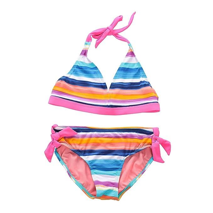Amazon.com: DAYU traje de baño de dos piezas para niña con ...