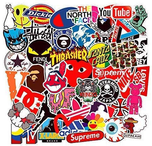 Street Fashion Sticker Decals(101pcs), BENYU Laptop Vinyl Stickers for Waterbottle,Hydro Flask,Snowboard,Luggage,Motorcycle,iPhone,MacBook,Wall,DIY Party Supplie Patches Decal from BENYU