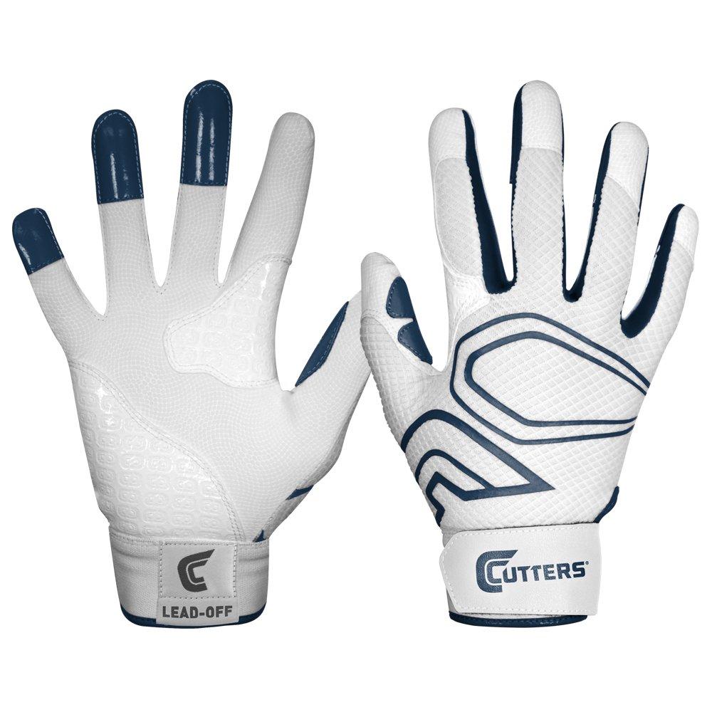 カッター手袋メンズlead-off野球バッティンググローブ B00G6JB62A Small|ホワイト/ネイビー ホワイト/ネイビー Small