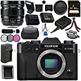 Fujifilm X-T20 Mirrorless Digital Camera (Black) 16542490 XF 16mm f/1.4 R WR Lens 16463670 Bundle