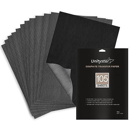 amazon com carbon paper unitystar 105 sheets graphite paper