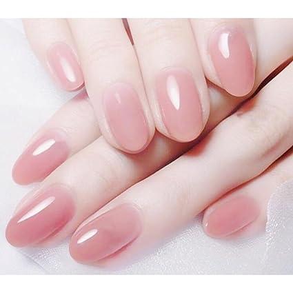 Amazon.com: Dongcrystal 24 uñas postizas rosas acrílicas ...
