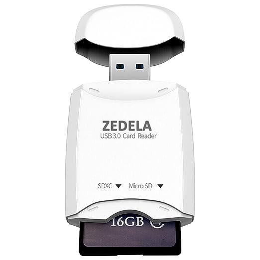 31 opinioni per ZEDELA USB 3.0 Card Reader 2 in 1, Adattatore Schede Memoria Superspeed 5Gbps,