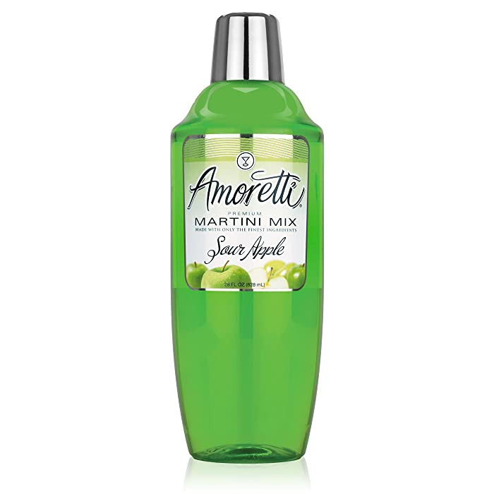 Amoretti Cocktail Mix, Sour Apple, 28 Ounce (Pack of 12)