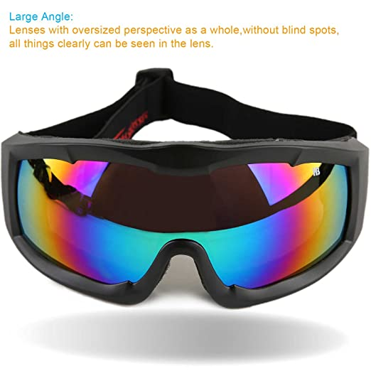 aaf9bbdabe29 Amazon.com   Orgrim Tactical Windproof Cycling Googles Uv400 Motorcycle Ski  Snowboard Goggles Eyewear Sports Protective Safety Glasses with Extra Long  ...