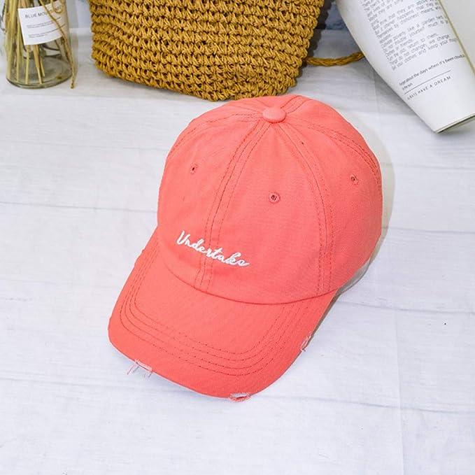 mlpnko Sombrero de Moda Femenina Borde Roto Letras Viejas Gorra de ...
