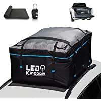 G4Free 18.5 Cubic Feet Car Top Carrier Upgraded Black-02 Easy to Install Soft Roof Top Cargo Bag with Wide Straps-Works with or Without Roof Rack