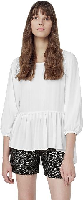 MANGO Camisa KUSILAS Blanca Muher S (S EUR Mujer): Amazon.es ...