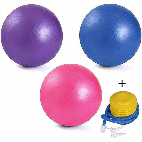 Paquete de 3 mini pelotas de ejercicio con bomba de aire, 9 - 10 ...