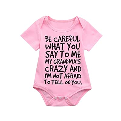 7226158f18 Lisin Newborn Infant Baby Kids Girl Boy Print Romper Jumpsuit Short Sleeve Outfits  Sunsuit Clothes