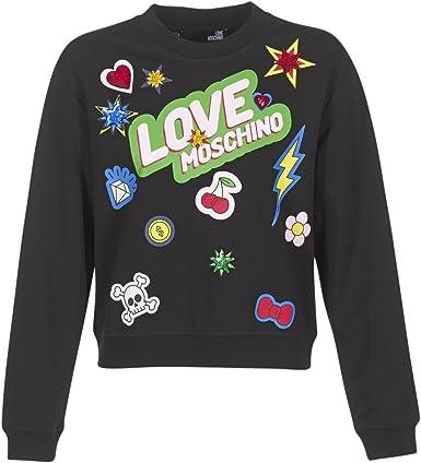 TALLA 40. Love Moschino Sweatshirt Sudadera para Mujer