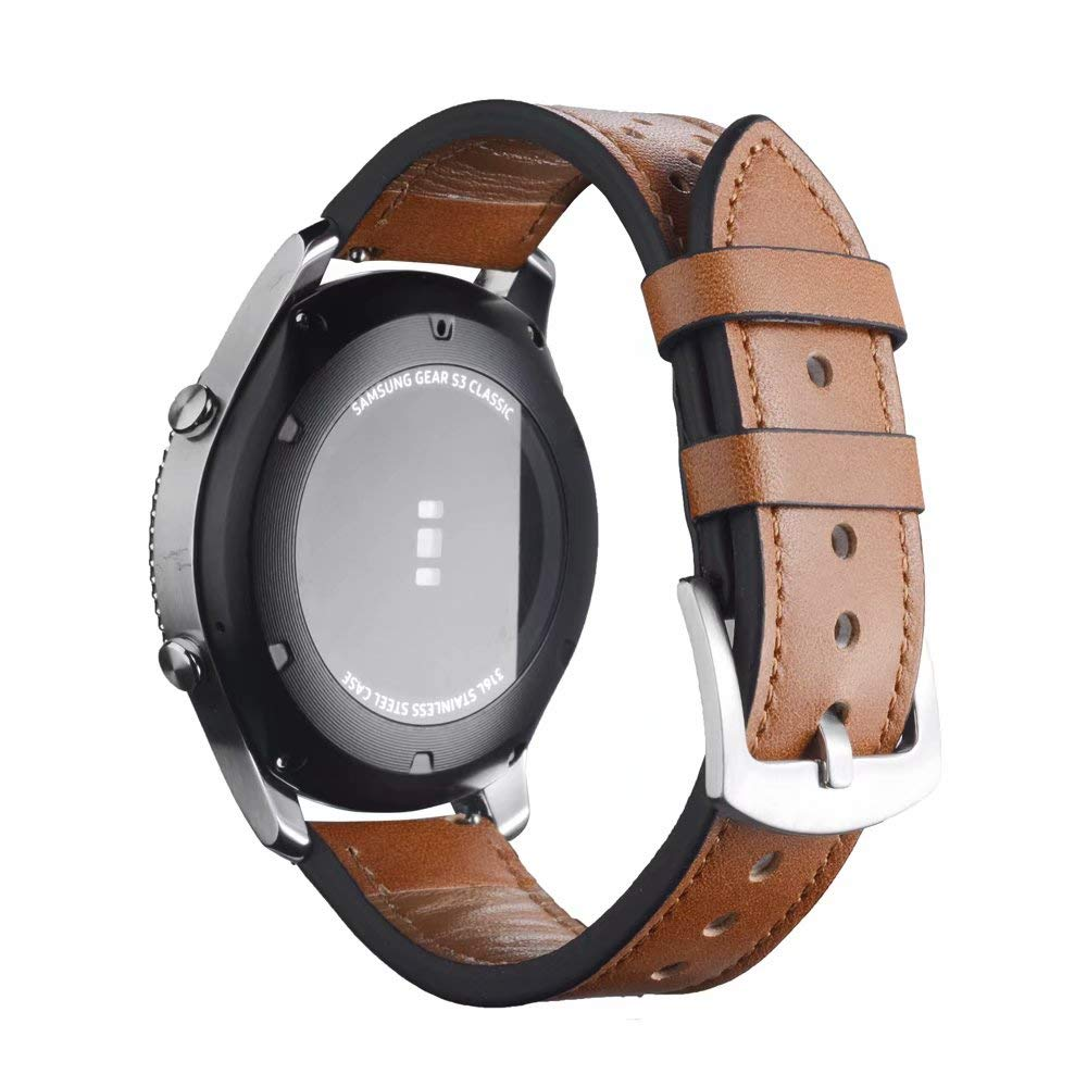 Amazon.com: Jewh Watch Band for Samsung Gear S3 - Frontier Classic Band - 22mm Watch Bands - Genuine Leather Strap -Men Women Smart Watch - Replacement ...