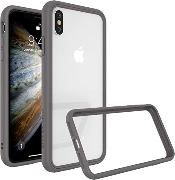 Military Grade Drop Protection Against Full Impact Scratch Resistant White Slim RhinoShield Ultra Protective Bumper Case Compatible with | CrashGuard iPhone X//XS
