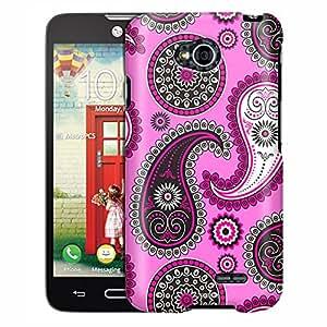 LG Optimus Exceed 2 Case, Slim Fit Snap On Cover by Trek Paisley Pink Black on Pink Case