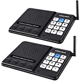 Wireless Intercom System for Home,Sanzuco Wireless Intercom System 1 Mile Range for Office, 10 Channel 3 Private Code Room to Room Intercom, Home Communication System (2 Packs)