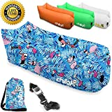 Chillax Inflatable Lounger - Best Air Lounger for Travelling, Camping, Hiking - Ideal Inflatable Couch for Pool and Beach Parties - Perfect Air Chair for Picnics or Festivals (Flamingo)