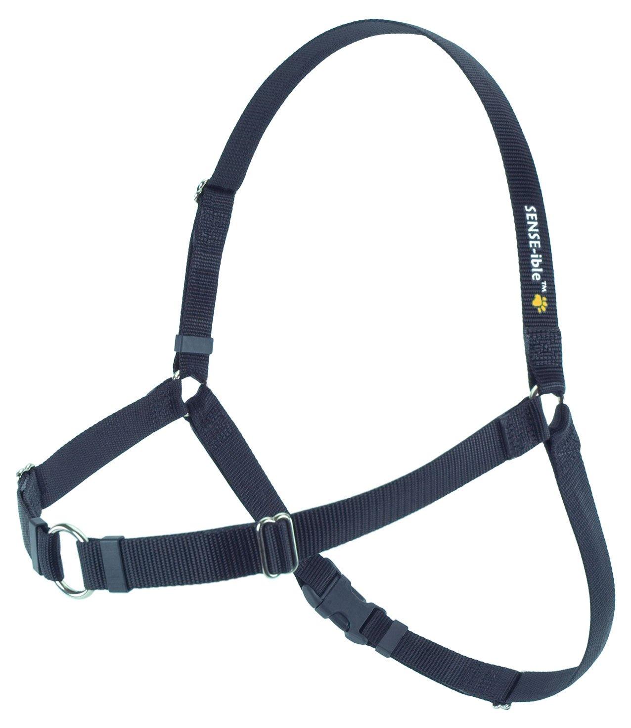 SENSE-ible No-Pull Dog Harness Black Large